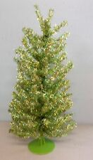 "Artificial SHIMMERING GLITTER IRIDESCENT LIME ""Feather"" Christmas Tree 18"" CR"
