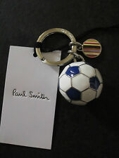 Paul Smith 3D METAL FOOTBALL Keyring BLUE / WHITE , Brand New