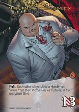 KINGPIN Upper Deck Marvel Legendary MASTERMIND TACTIC MOB WAR
