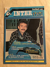 RIVISTA INTER FOOTBALL CLUB N.3 3/1981 G. BINI A. SABATO LOCATELLI OLMI