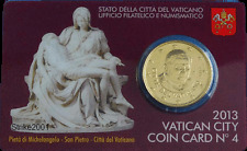 NEW !!! Euro VATICANO 2013 COIN CARD 50 CENT in Folder Ufficiale