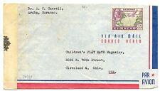 ARUBA-ST. NICOLAAS  --1944   TO  USA  CENSOR --  F/VF
