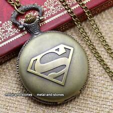Antique Superman Pocket Watch Father Son Grandad Mens Rare Gift For Him Present