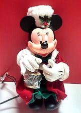 Vtg Disney Santas Best Animated Light Up Minnie Mouse Ornament Dickins Christmas