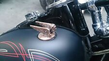 Harley gas cap, handmade, Chevy 1929, custom , bobber ,chopper, weld in, bronze