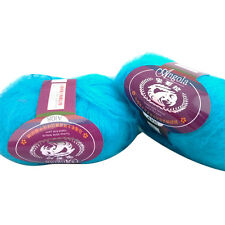 Multi-Coloured Luxury Angola Mohair Cashmere Wool Yarn Skein Lot