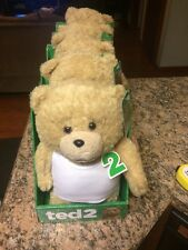 """TED 2 STUFFED ANIMAL 11"""" TALKING PLUSH BEAR IN WHITE T-SHIRT"""