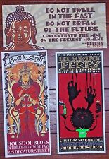 3 Jeff Wood Handbills Buddha House Of Blues Variety Playhouse Art Print Poster
