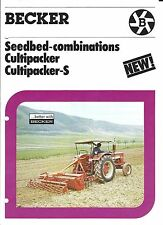 Farm Equipment Brochure - Becker - Cultipacker S - Seedbed Preparation (F4847)