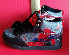 Spiderman Boy Clothes Sz 4 Super Hero Athletic Sneakers Box Gray Superhero Shoes