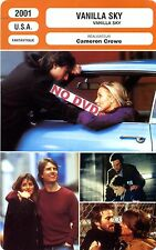Fiche Cinéma. Movie Card. Vanilla sky (USA) 2001 Cameron Crowe