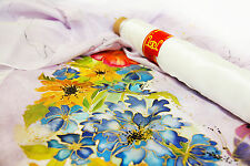 Pure Silk - ponge 5- white £5.69 per metre BARGAIN - free UK postage- 90cm wide