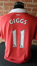 2011-2012 Giggs #11  Manchester United  Home Football Shirt large (16014)