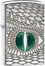 Zippo 28807 Emerald Reptile Eye Armor Engraved Dragon Snake DISCONTINUED Lighter