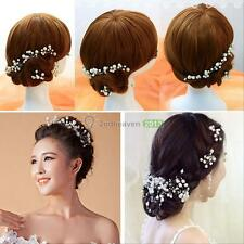 6 Pcs Wedding Bridal Pearl Crystal Hair Pins Hair Clips Bridesmaid Headwear BEST