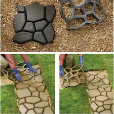DIY Patio Driveway Concrete Stepping Stone Path Walk Maker Paving Pavement Mold