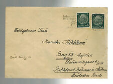 1940 Dresden Germany Cover Gestapo Prisoner Czech General Miroslav Miklik w/ltr