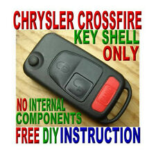 2004-2008 Chrysler Crossfire FLIP KEY KEYLESS REMOTE FOB CASE FREE INSTRUCTION