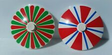 Lego Lot of 2 Semi Vintage Decorated Dish Table Umbrella Stands Pizza Restaurant