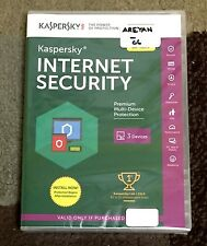 NEW Kaspersky Internet Security 2016 3PCs 1 Year Protection Expires 07/27/17