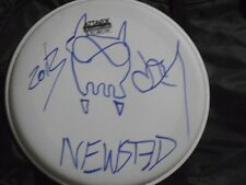 Metallica JASON NEWSTED Hand Signed Drumhead With SKETCH