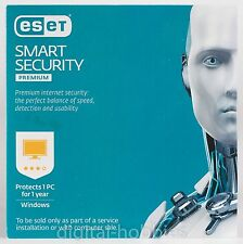 eset SMART SECURITY PREMIUM OEM 2017 (1 PC 1 YEAR for Windows) Free Shipping USA
