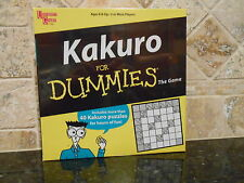 BRAND NEW FACTORY SEALED KAKURO for DUMMIES GAME University Games Made in USA