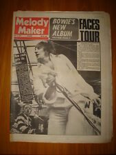 MELODY MAKER 1974 MAY 11 ROD STEWART BOWIE THE FACES