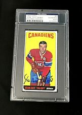 JEAN-GUY TALBOT SIGNED TOPPS 1964 TALL BOYS MONTREAL CANADIENS CARD #52 PSA/DNA