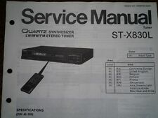 TECHNICS ST-X830L Stereo Tuner Service manual wiring parts diagram