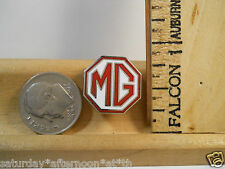 Classic 60s Red White MG Roadster Enamel Collectable Lapel Hat Vest Pin Tie Tack
