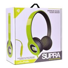 JLab Supra On-Ear Headphones with Detachable Cable and Universal Mic