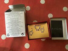 Avon Candy Cane Confection Necklace & Earring Set. Heart Pendant. Heart Earrings