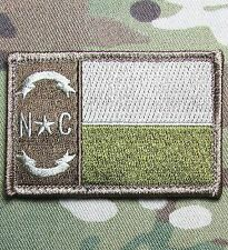 NORTH CAROLINA STATE FLAG TACTICAL ARMY MILITARY MORALE MULTICAM HOOK PATCH