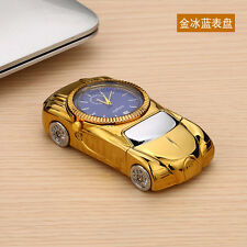 Gold Multifunctional Windproof Cigarette Lighter Sports Car Quartz Watch