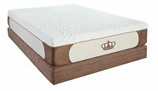"New 12"" King Cool Breeze GEL Memory Foam Mattress Bed with FREE 2 GEL Pillows"