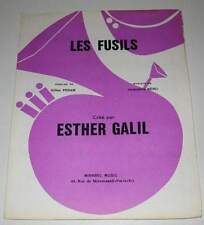 Partition vintage sheet music ESTHER GALIL : Les Fusils * 70's