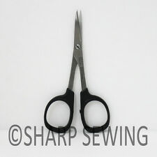 "KAI  4"" CURVED BLADE POINT EMBROIDERY NEEDLE CRAFT QUILTER SCISSORS N5100C"