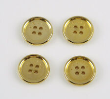 Celine Paris Button Vintage round flat gold plated couture design lot 4 pc 15mm