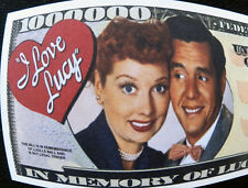 I love Lucy FREE SHIPPING! Million-dollar novelty bill