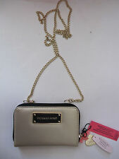 Victoria's Secret's White Gold Crossbody Wallet Wristlet Clutch iPhone 5 5S 5C