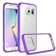 Exact Prism Slim-Fit Transparent Bumper Case for Samsung Galaxy S7 Edge Purple