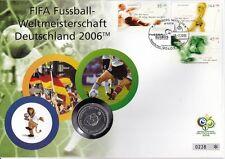 Germania NUMISBRIEF 10 Euro Argento 2004 Coppa del Mondo 2006
