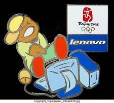 OLYMPIC PIN BEIJING 2008 LENOVO COMPUTER SPONSOR DESKTP