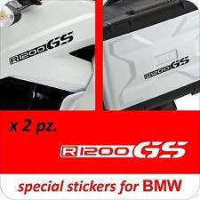 2 Adesivi Fiancata Valigie Stickers Moto BMW R 1200 gs