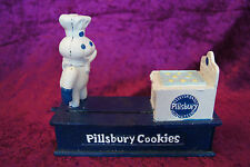 Mechanische Spardose aus Gußeisen Pillsbury Cookies,, Koch-Konditor, Money Box