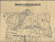 Bethlehem Morris Lakeside Bantam Lake CT  1874 Maps with Homeowners Names Shown