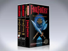 NEW custom game storage cases Final Fantasy I, II, and III -No Games- NES SNES 2