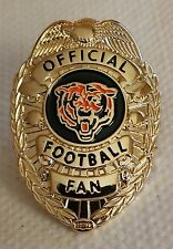 Chicago Bears OFFICIAL FOOTBALL FAN BADGE PIN