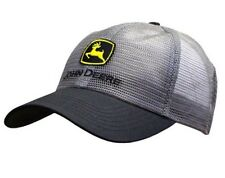 JOHN DEERE *GRAY & BLACK FULL MESH* Trademark LOGO HAT CAP  *NEW!*